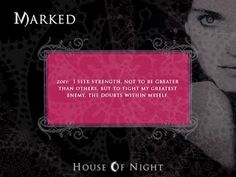 Untitled house of night project book