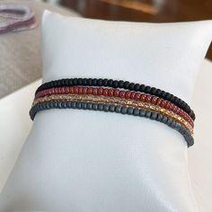 Cozy Nights 4 Individual Beaded Bracelet Set - Stretch Bracelets - Tiny Bead Bracelets - Stackable - Layer - Small Bead Bracelet Stack Bracelets, Stackable Bracelets, Stretch Bracelets, Beaded Bracelets, Bracelet Set, Cozy, Beads, Beading, Bangle Set