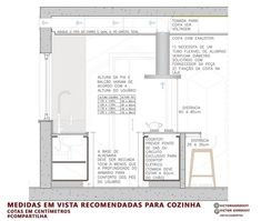 Interior Design Presentation, Home Interior Design, Interior Decorating, Layouts Casa, House Layouts, Interior Architecture Drawing, Architecture Details, Kitchen Colors, Kitchen Design