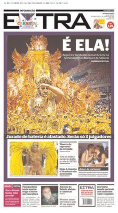#20160208 #NEWSpapersTodayUSAandTheWORLD Monday FEB 8 2016 #CarnavalBRAZIL #RIOdeJANEIRO http://www.newseum.org/todaysfrontpages/?tfp_show=80&tfp_page=8&tfp_id=BRA^RJ_EX