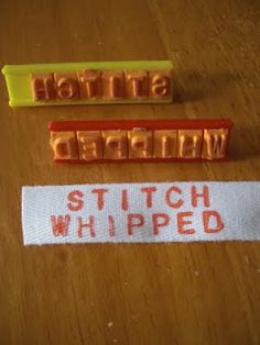 Make your own simple clothing tags