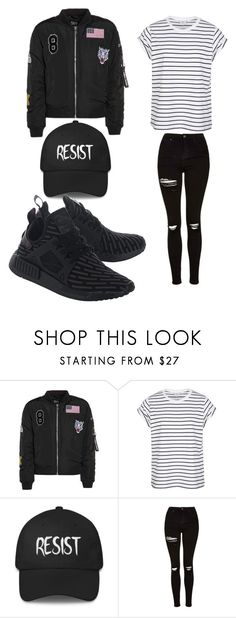 """Untitled #770"" by alanawedge59 on Polyvore featuring Topshop and adidas Originals"