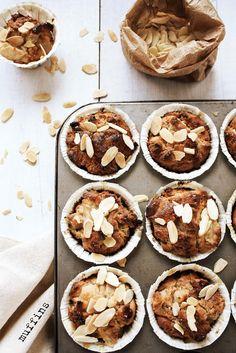 Pratos e Travessas: Muffins de pêra sem glúten # Gluten free pear muffins | Food, photography and stories
