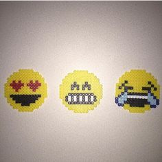 Emojis perler beads by cutisyy_crafts
