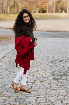 The Tailored Olive- Red winter jacket-Micheal Kors Fashion Photo, Personal Style, Winter Fashion, Bell Sleeve Top, Winter Jackets, Lifestyle, My Style, Womens Fashion, Red