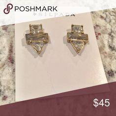 Silpada earrings New! Beautiful crystal earrings. Lots of shine. Silpada Jewelry Earrings