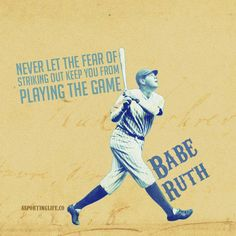 http://www.asportinglife.co/ #baberuth #sportsquotes #quotes