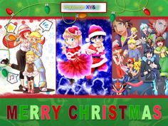 Ash Ketchum and Pikachu with their Kalos friends ^.^ ♡
