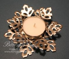 Snowflake candle holder - another great hostess gift!