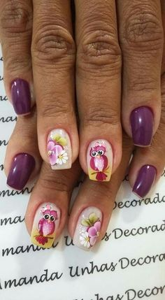 Cute Nail Art, Cute Nails, 3d Nails, Flower Nails, David, Painting, Easy Nails, Stuff Stuff, Drawings