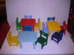 minyatür masa ve sandalye