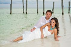 Real Destination Weddings - stunning trash the dress photo!