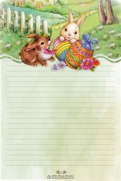 Easter Backgrounds, Printable Pictures, Frame Clipart, Stationery Paper, Book Projects, Writing Paper, Note Paper, Cute Gif, Printable Paper