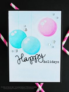 Love this card by Vanessa Menhorn using Simon Says Stamp Exclusives.  October 2014