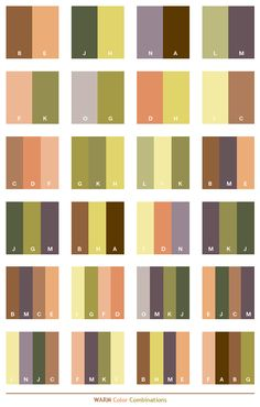 Warm color schemes, color combinations, color palettes for print (CMYK) and Web (RGB   HTML)