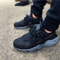 Shoes: huarache, nike running shoes, black, grey, nike huaraches ...