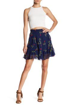 Romeo & Juliet Couture - Floral Embroidered Skirt