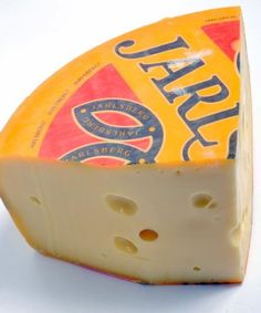 Jarlsberg cheese is a mild, buttery flavored Swiss-style cheese from Norway. Serve this cheese as part of your cheese board or works well for fondue. Jarlsberg Cheese, Milk And Cheese, Swiss Cheese, Gourmet Cheese, Cheese Dishes, Milk Protein, Recipe Boards, Melted Cheese, Gourmet Recipes