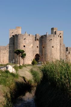 The medieval fortress and walled city of Aigues Mortes, Languedoc-Roussillon region of southern France.