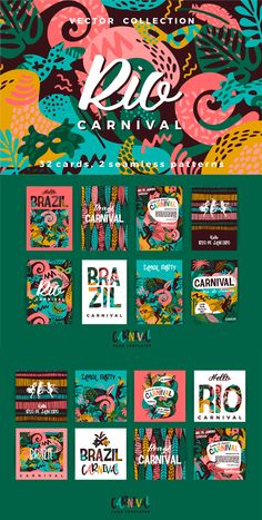 Brazil Vector templates with trendy abstract elements for Card design for carnival concept Brazil Vector templates with trendy abstract elements for Card design for carnival concept Web Design, Graphic Design Trends, Graphic Design Branding, Graphic Design Posters, Identity Design, Graphic Design Inspiration, Layout Design, Logo Design, Print Layout
