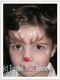 reindeer face painting ideas - Google Search
