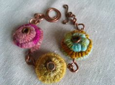 Handspun and Recycled Copper Coil Bracelet by BricolageStudios, $45.00