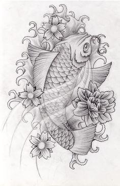 Koi design 1 by arielferreyra.deviantart.com on @deviantART