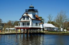 Edenton, NC perfect for: Those seeking a quaint, colonial town. Main attractions: Beautiful nineteenth-century architecture, like the 1886 Roanoke River Lighthouse that peacefully stands on stilts above the bay.
