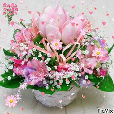 Some beautiful flowers i am sending your way ! Flowers Gif, Beautiful Bouquet Of Flowers, Beautiful Flowers, Birthday Greetings, Happy Birthday, Beautiful Gif, Birthday Balloons, Brighten Your Day, Happy Mothers Day