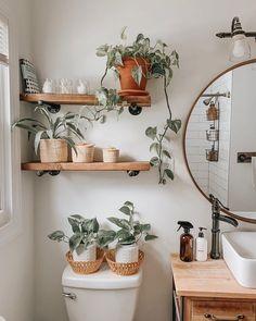 Bad Inspiration, Bathroom Inspiration, Bathroom Inspo, Bathroom Goals, Diy Bathroom Decor, Diy Home Decor, Bathroom Organization, Budget Bathroom, Plants In Bathroom