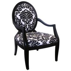 Charlotte black and white brocade accent chair http://www.dcgstores.com/charlotte-black-white-brocade-accent-chair-cp.html