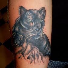 Black Panther Tattoo: Tattoo artist: Tracy at Arsnick Art Tattoo, Denver, Colorado Rose Tattoo Black, Black Panther Tattoo, Black Tattoos, Panther Tattoos, Black Panthers, Cat Tattoo Designs, Tattoo Designs And Meanings, Head Tattoos, Body Art Tattoos