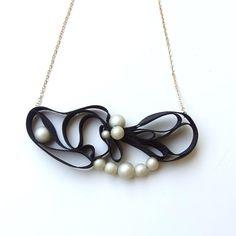 Kune Grosgrain Necklace Black by HOMAKO on Etsy, $49.00