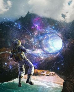 Space trip as an astronaut entering the black hole futuristic design time travelling to future Fantasy Kunst, Fantasy Art, Astronaut Wallpaper, Art Tumblr, Space Artwork, Space Illustration, Futuristic Design, Galaxy Wallpaper, Constellations