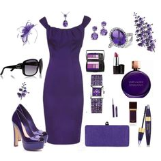 Lady in Purple (maybe add a pair of sparkly black heels instead! Just to add a little variety!