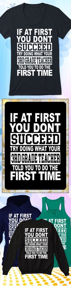 Don't Succeed 3rd Grade Teacher - Limited edition. Order 2 or more for friends/family & save on shipping! Makes a great gift!