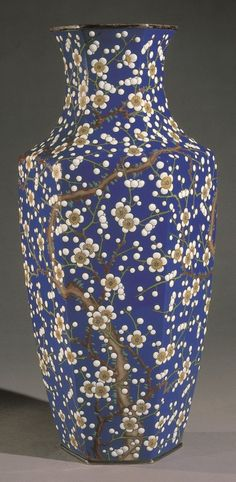 Vase, Nagoya. Meiji, circa 1905 - signed with the silver wire seal of Kawade Shibataro - moriage enamel, applied with silver mounts | Khalili Collections | Japanese Art of the Meiji Period | Collections | Khalili