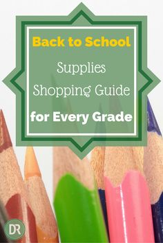 It's back to school season and here is a huge guide to help you make sure you get the right supplies for your grade. This covers Pre-K through 12th grade.