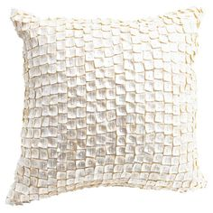 Toss this shimmering pillow on the library arm chair or living room sofa for a pop of glam, the perfect contrast for cozy throws or neutral upholstery.