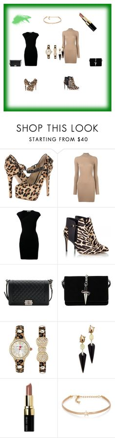 """JUNGLE  FEVER"" by defne-966 ❤ liked on Polyvore featuring Steve Madden, adidas Originals, Yves Saint Laurent, Fratelli Karida, Chanel, Cesare Paciotti, Betsey Johnson, Alexis Bittar, Bobbi Brown Cosmetics and Kenneth Jay Lane"
