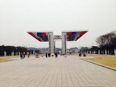 올림픽공원  새가 날개를 펴듯이 olympic park in seoul