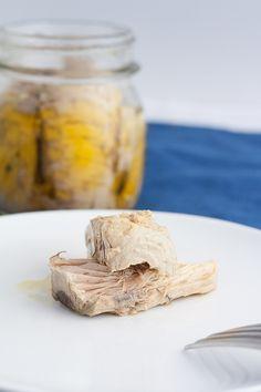 Bonito preserve with native olive oil. A tuscan recipe.