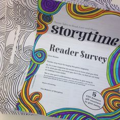 Getting the results in for our first ever reader survey and someone has been very creative! :-) ~ STORYTIMEMAGAZINE.COM