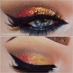 Red Orange Sparkles - Trends & Style:> Perfect Fall Trendy Eye Color...Gorgeous!