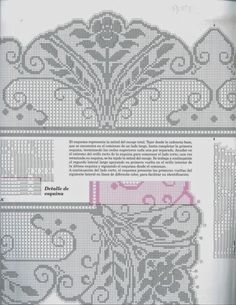 Мобильный LiveInternet Muestras y Motivos ganchillo салфетки, скатерти Filet Crochet Charts, Crochet Borders, Knitting Charts, Cross Stitch Charts, Crochet Stitches, Cross Stitch Embroidery, Knitting Patterns, Crochet Patterns, Fillet Crochet
