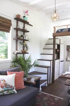 Handcrafted Movement Tiny House. Tiny House Swoon. The 24 ft.Artisan Retreat with even more pictures.
