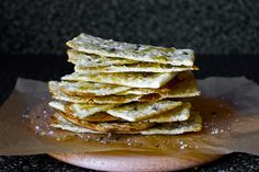 flatbreads with thyme, honey and sea salt by smitten kitchen