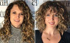 curly bang transformation