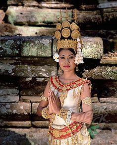 Cambodian apsara dancer