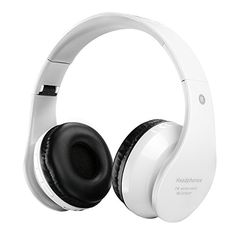 Deals week  FTSM Bluetooth Wireless Over-ear Stereo Headphones Wireless/Wired Headsets with Noise Reduction Cancelling Built-in Microphone For iPhone 6s 6 5s 4siPadSamsung Galaxy And Other Smartphones (White) Best Selling